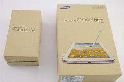 Galaxy Note 8.0 и S4 продаются в 100% перерабатываемых коробках