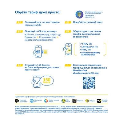 Украинский оператор lifecell запускает eSIM