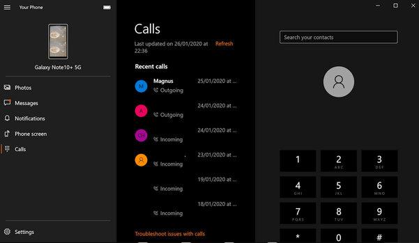 Функция звонков через Android-смартфон теперь доступна всем пользователям Windows 10