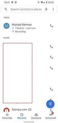 Вот как будет выглядеть возможность записи звонков взвонилке Android 10