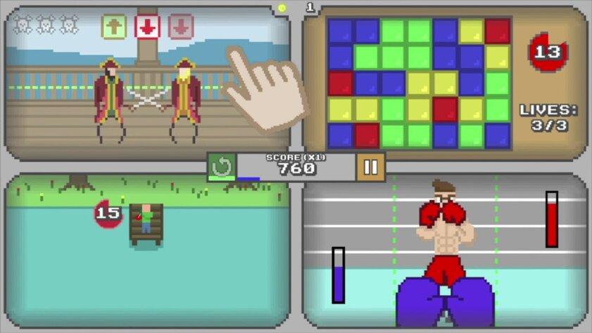 В App Store выйдет Quadracade, вкоторой нужно играть одновременно вчетыре игры