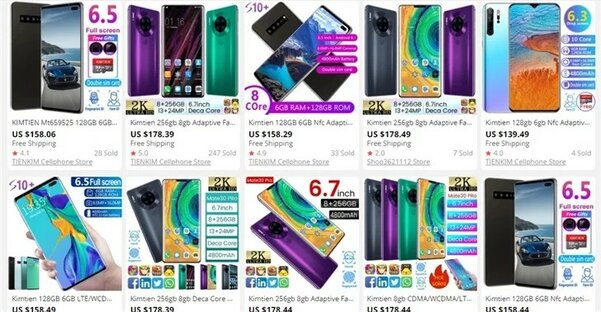 На AliExpress появилось много поддельных смартфонов известных брендов