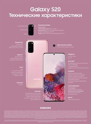 В России уже можно заказать флагманские смартфоны Samsung Galaxy S20
