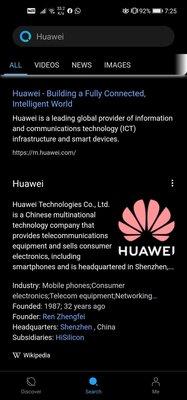 Huawei уже нашла замену поиску Google насмартфонах