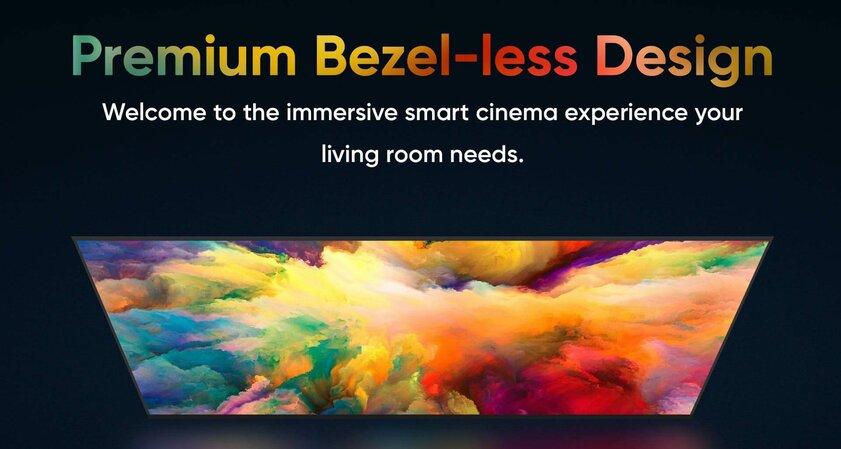 Realme дразнит своим первым суперярким телевизором стехнологией Chroma Boost