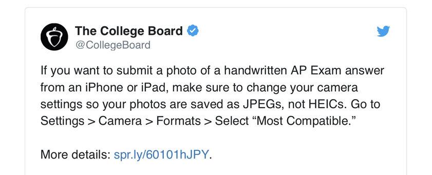 Часть школьников изСША несдали экзамены из-заформата HEIC, вкотором снимает iPhone