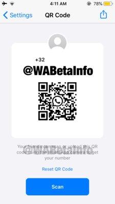 WhatsApp тестирует быстрое добавление новых контактов через сканирование QR-кодов