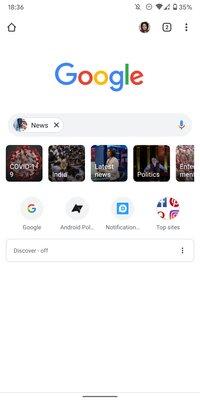 Google хочет изменить новую вкладку Chrome наAndroid, чтобы упростить поиск