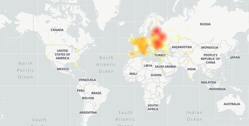 Telegram упал: сервис недоступен вЕвропе изападной России