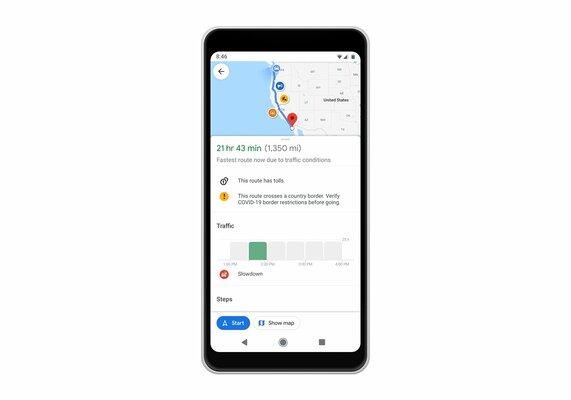Google Карты теперь строят маршрут сучётом изменений из-заCOVID-19
