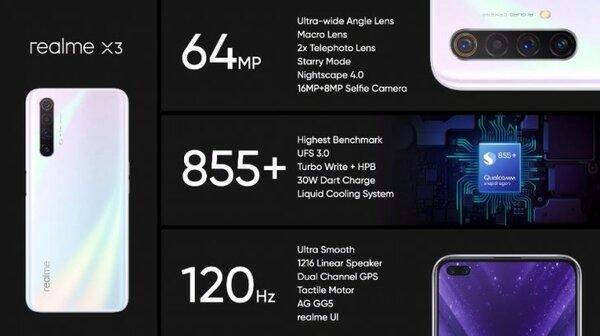 Дебют Realme X3: смартфон наSnapdragon 855+ ис 12-Мп камерой стелеобъективом