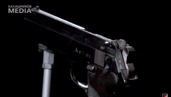 Отменённый пистолет Калашникова показали навидео. Выглядит крайне нестандартно