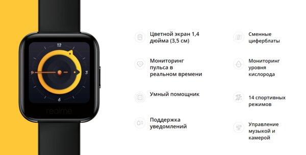 Умные часы Realme Watch со стильными циферблатами представлены вРоссии