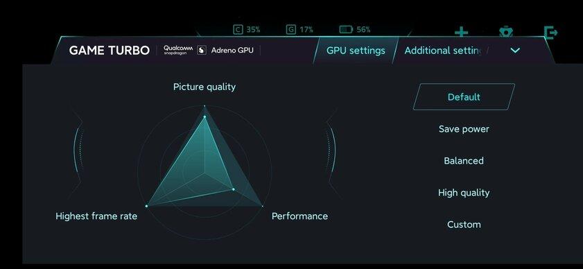 Скриншоты: Xiaomi иQualcomm создали утилиту длянастройки видеоускорителя смартфона