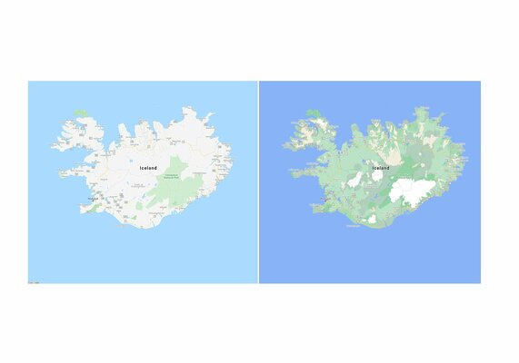 Google Карты стали подробнее, красочнее итеперь показывают пешеходные тротуары