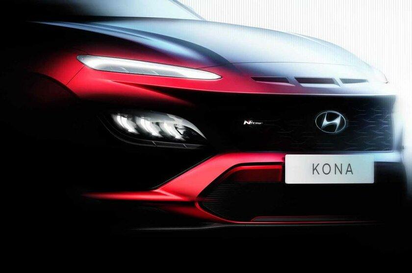 Акулий нос испортивный силуэт: Hyundai рассекретил внешний вид обновлённого кроссовера Kona