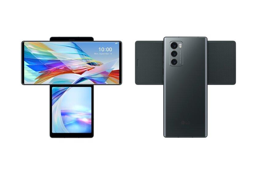 LG презентовала необычный смартфон Wing свращающимся дисплеем