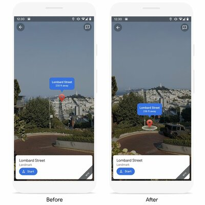 Дополненная реальность вGoogle Картах научилась показывать друзей иданные одостопримечательностях
