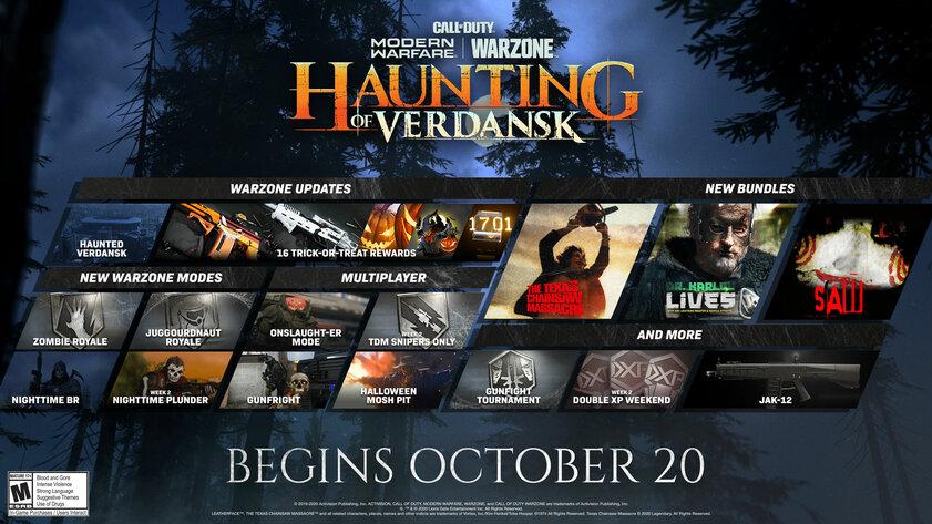 Хэллоуин вCOD: Modern Warfare— ночной Верданск, новые режимы искины