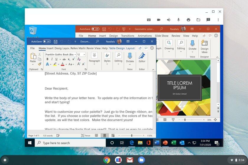 Windows-приложения теперь работают наChromebook благодаря Parallels Desktop