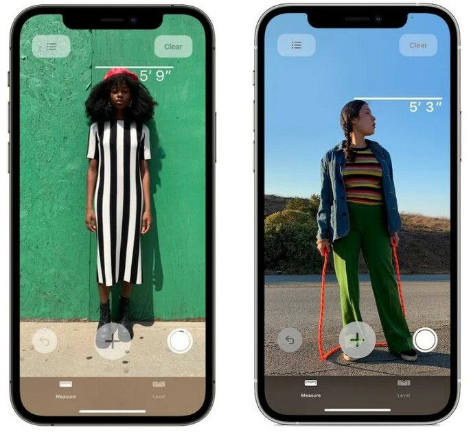 LiDAR вiPhone 12 Pro можно использовать дляопределения роста человека