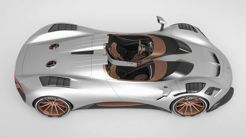 Ares S1 Project Spyder разгоняется досотни за2,7 секунды: унего приэтом нет крыши илобового стекла