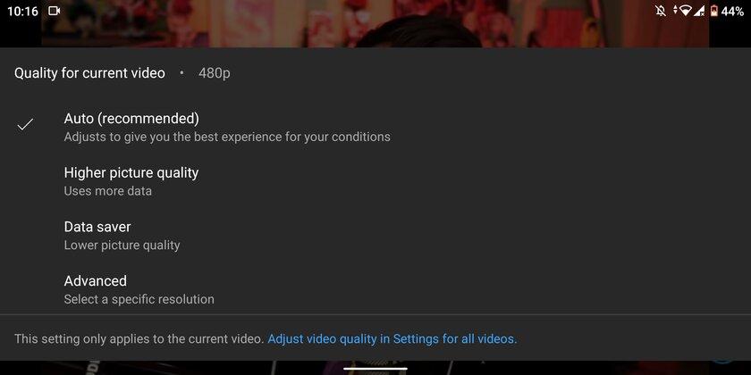 YouTube усложнит выбор конкретного разрешения видео, предлагая умную настройку качества