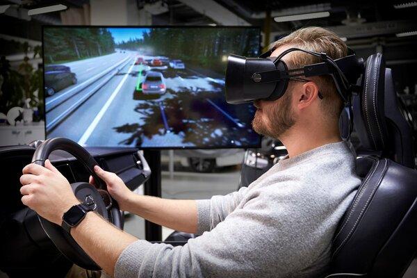 Volvo создала виртуальный симулятор дляразработки технологий безопасности вавтомобилях