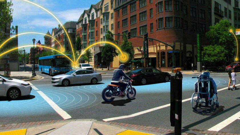 GM представила вКитае систему V2X: автомобили смогут «общаться» между собой