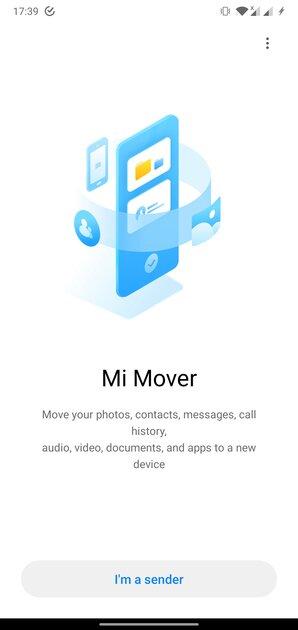 Приложение Mi Mover длямиграции насмартфоны Xiaomi теперь доступно длявсех устройств