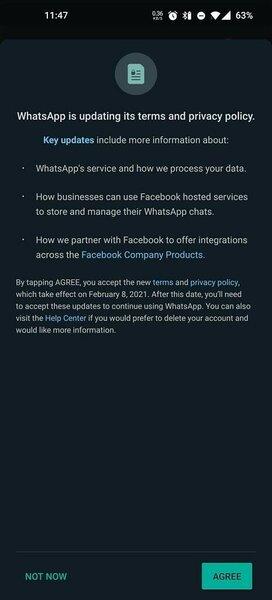 WhatsApp изменил политику конфиденциальности: отFacebook теперь никуда недеться