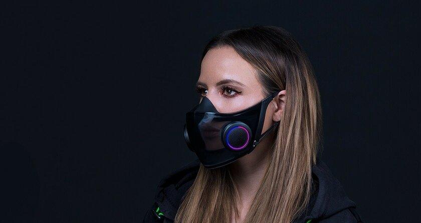 Геймерство впандемию: Razer показала кресло спанорамным дисплеем имедицинскую маску сRGB-подсветкой