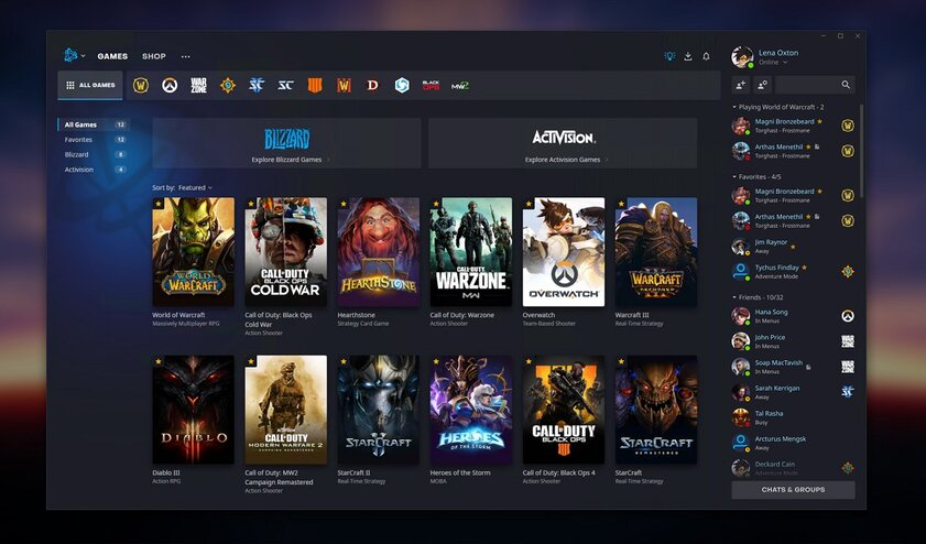 Blizzard обновила Battle.net: больше удобства иупор насоциальную активность