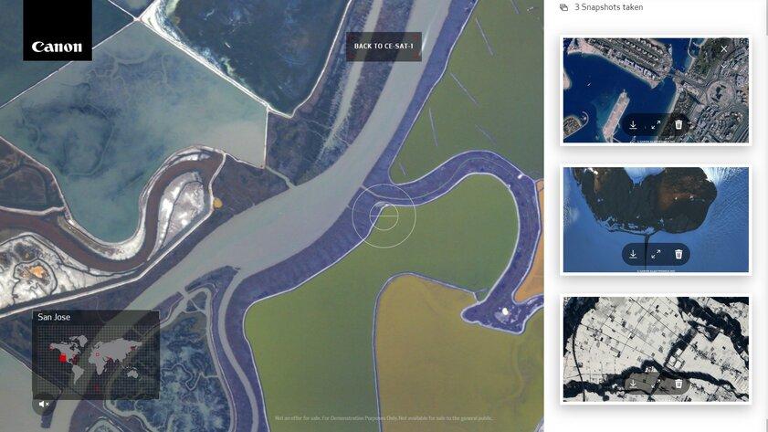 Canon запустила сайт, накотором можно делать фотографии со спутника