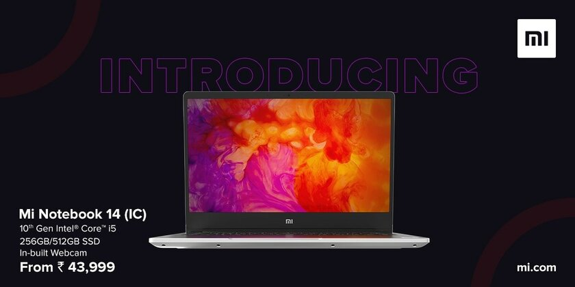 Xiaomi released Mi Notebook 14 with an integrated webcam