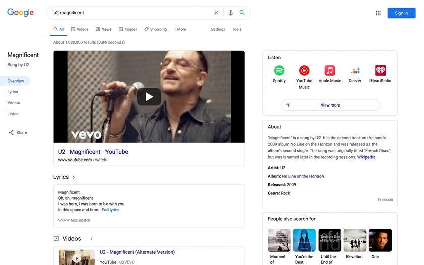 Google выпустила редизайн поиска длязапросов омузыке: послушать желаемый трек стало проще