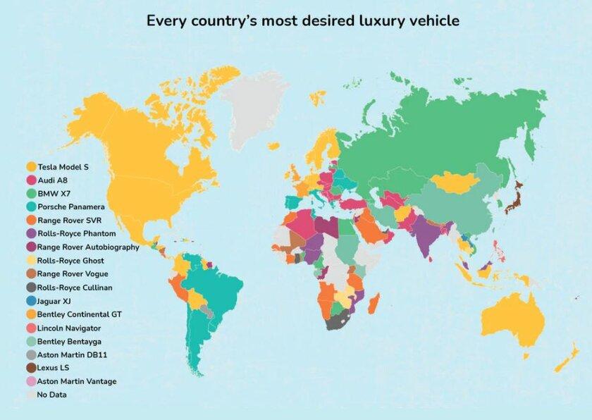 Инфографика: окаком авто мечтают жители разных стран. Россияне весьма странные