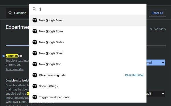 В Chrome появилась интеллектуальная строка дляпоиска всех функций инастроек браузера