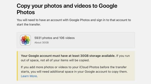 Apple запустила экспорт фото изiCloud в«Google Фото» идругие сервисы