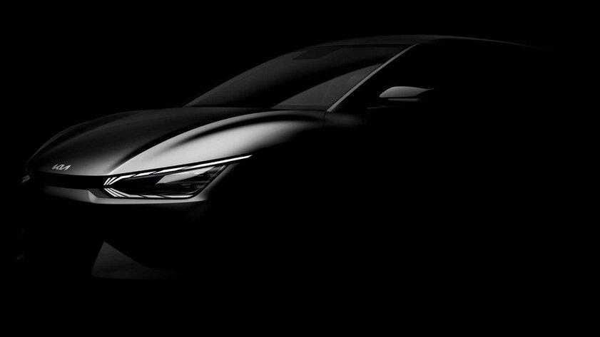 Kia показала силуэт нового электрокара EV6: кроссовер представят в2022 году