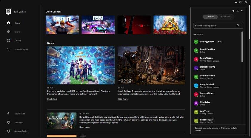 В Epic Games Store появятся текстовые иголосовые чаты, а личные сообщения удалят