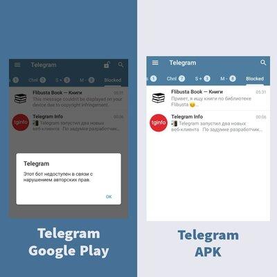 Telegram выпустил Android-клиент безограничений: контент небанится из-заавторских прав