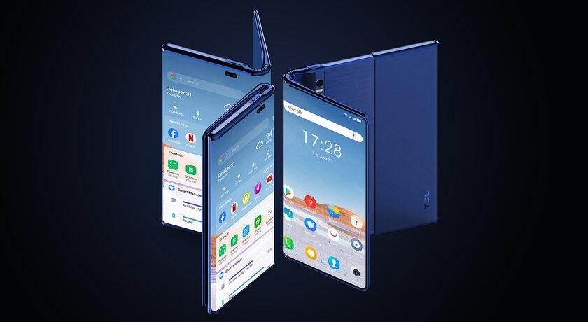 TCL представила новые смартфоны-середнячки серии TCL 20 ипоказала концепт растягивающегося устройства