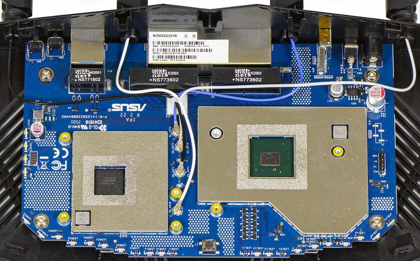 Дизайн космического корабля исоответствующая начинка. Обзор роутера ASUS RT-AX82U — Начинка. 2