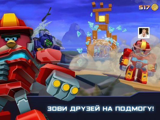 Игра Angry Birds Transformers вышла на Android