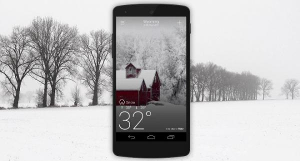 В Yahoo! Погода для Android и iOS появились красивые анимированные погодные эффекты