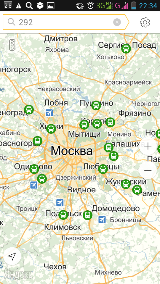 Обзорная карта Москвы и
