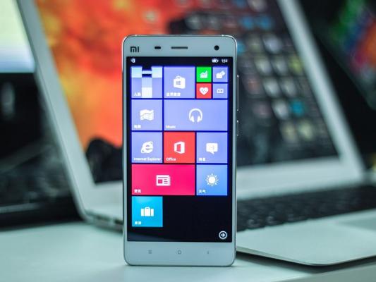 Видеодемонстрация работы Windows 10 на Android-смартфоне Xiaomi Mi4