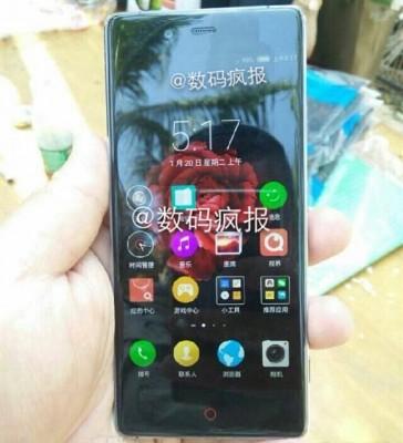 Утечка: новая фотография ZTE Nubia Z9 с 2.5D-экраном