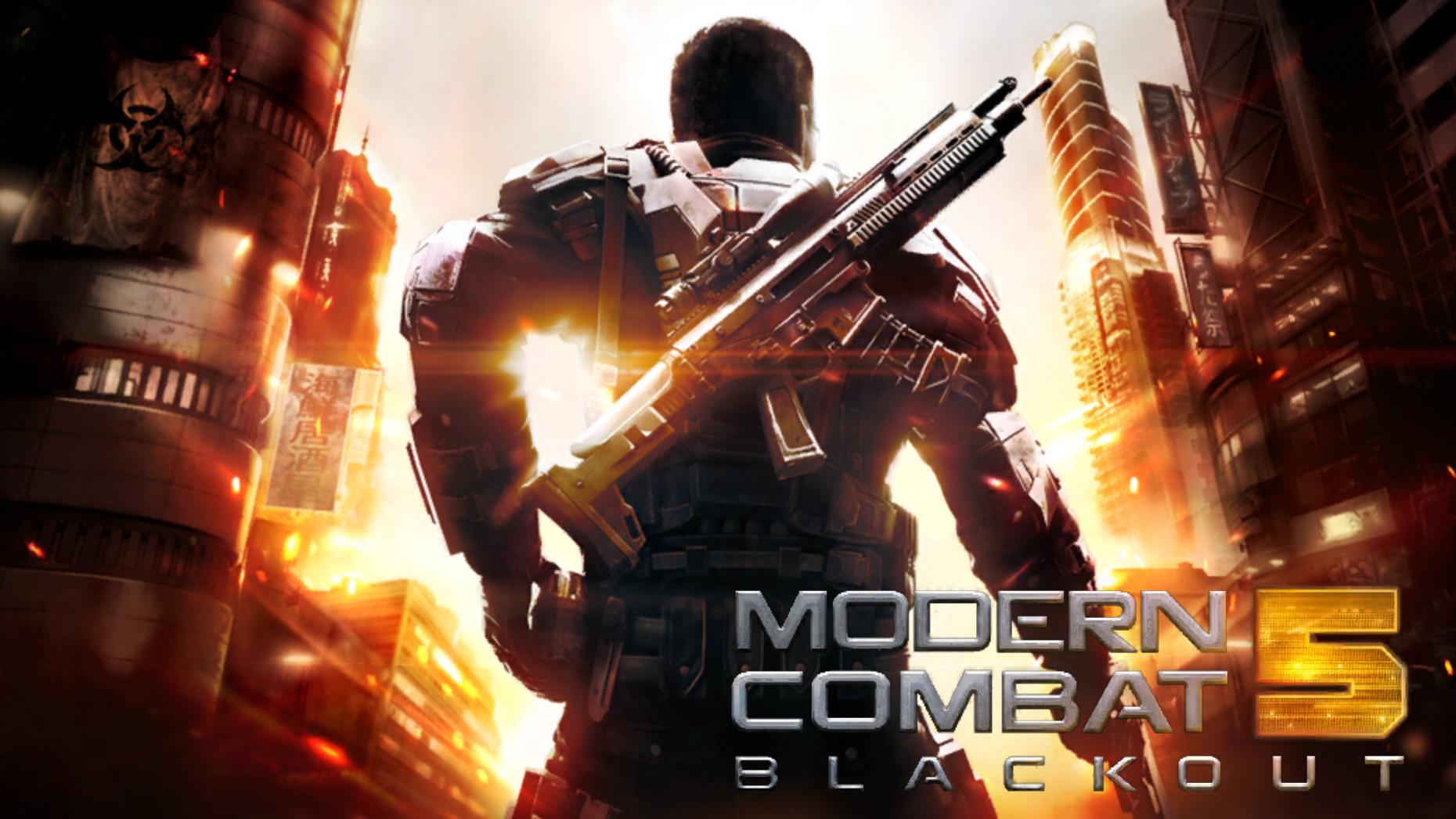 Скачать modern combat 5 на компьютер.